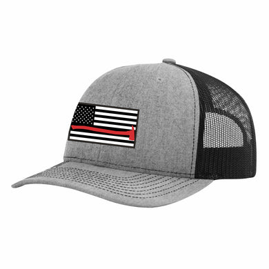 Thin Red Line Heather Grey and Black Snapback Cap