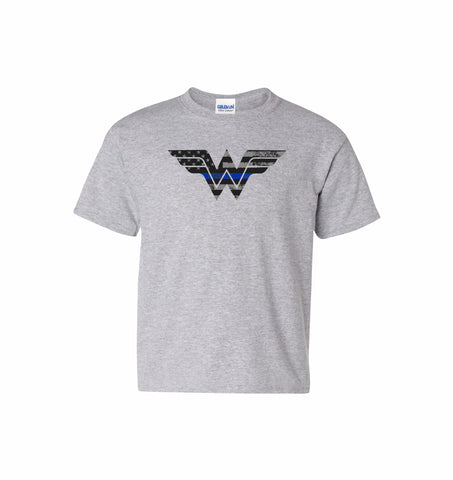 Youth Blue Line Warrior Tee