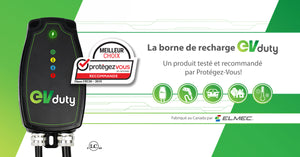 Ensemble borne de recharge EVduty-40 version intelligente + prise ext NEMA 14-50R