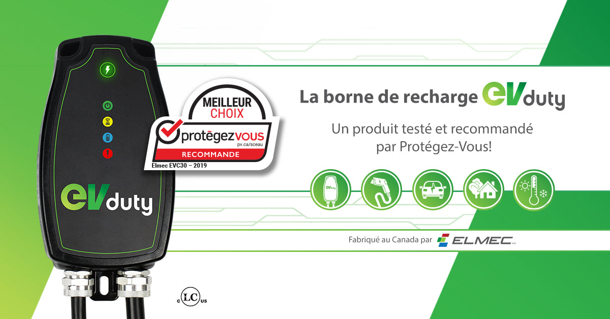 ensemble Borne de recharge EVduty-40 version intelligente + prise ext nema 6-50R