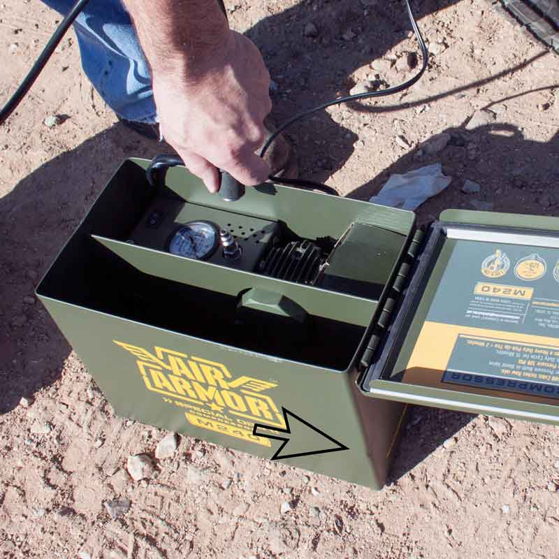 open air armor ammo can man connecting air hose