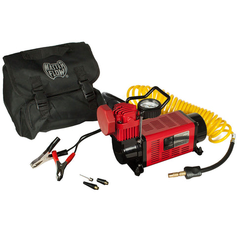 masterflow mf-1050 air compressor / carry bag / yellow hose / power cord
