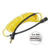 air compressor portable yellow coil hose