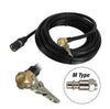 black air hose for tire inflator ball foot chuck