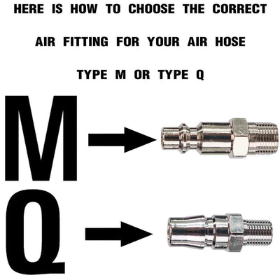 m and q type air fittings