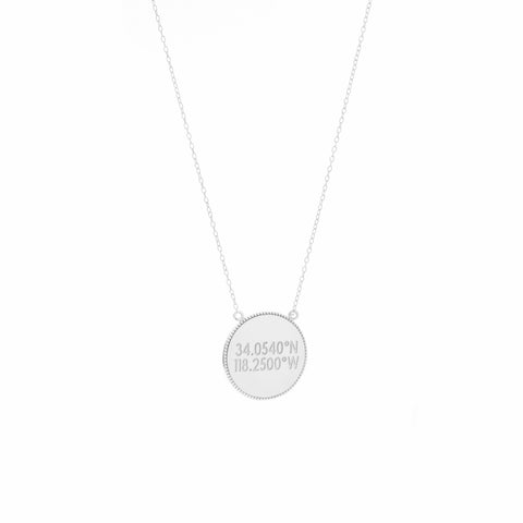 Pave Coin Necklace