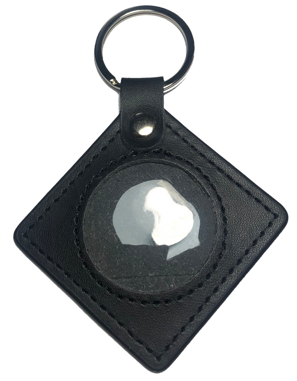 New And Improved Universal AA & NA Recovery Coin Holder Keychain (Black)