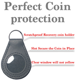 New And Improved Universal AA & NA Recovery Coin Holder Keychain (Grey)