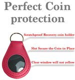 New And Improved Universal AA & NA Recovery Coin Holder Keychain (Pink)
