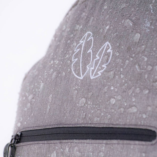 Weather Resistant travel backpack deflects raindrops