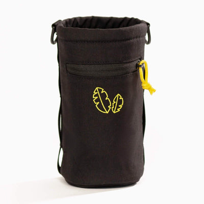 Front view of side hustle water bottle holder/bottle sling by banana backpacks