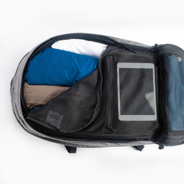 Front Compartment with convenient storage pockets for gear