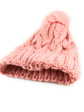 Women & Girls Solid Cable Knit Beanie