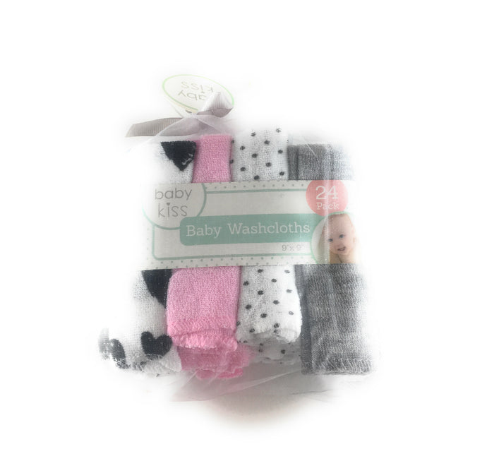Baby Kiss Baby Washcloths 24 Pack