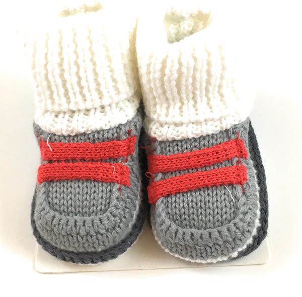 Carter's Knit Beige and Grey Booties