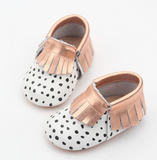 NEW Genuine Leather Baby Moccasin Shoes