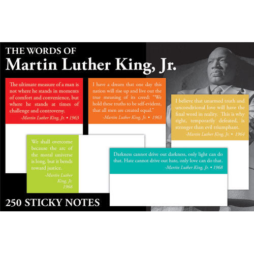The Words of Martin Luther King Sticky Notes