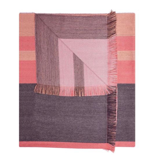 Peach Bloom Alpaca Reversible Throw