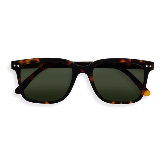 Sunglasses Risky Business #L Tortoise Green Lens