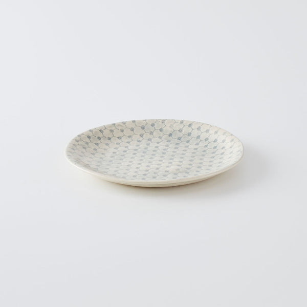 Side Plate Print Duck Egg