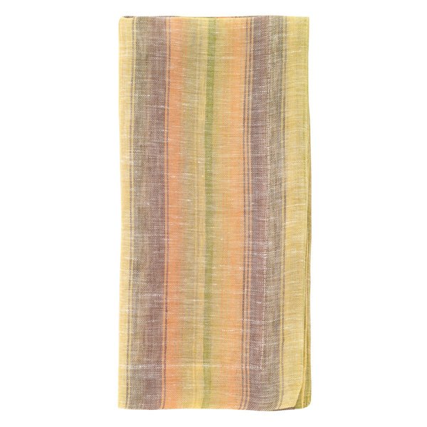 Multi Stripe Sunrise Linen Napkin