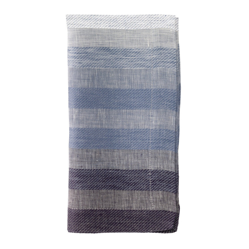 Gradient Stripe Navy Napkin