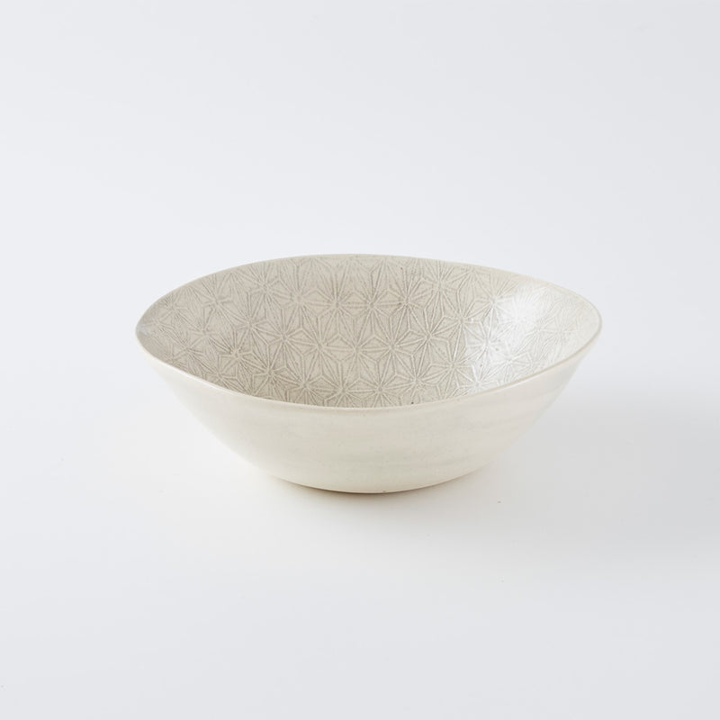 Medium Salad Bowl Print Warm Grey