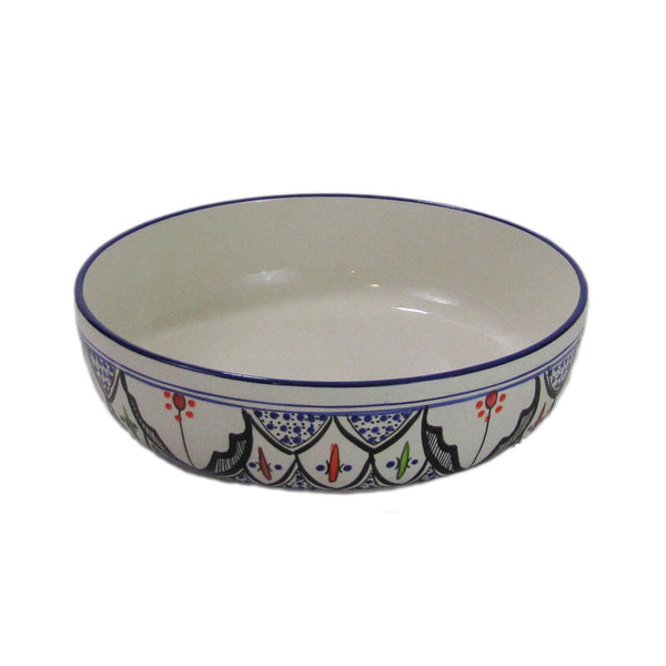 Tibarine Multi Large Wide Pasta Bowl
