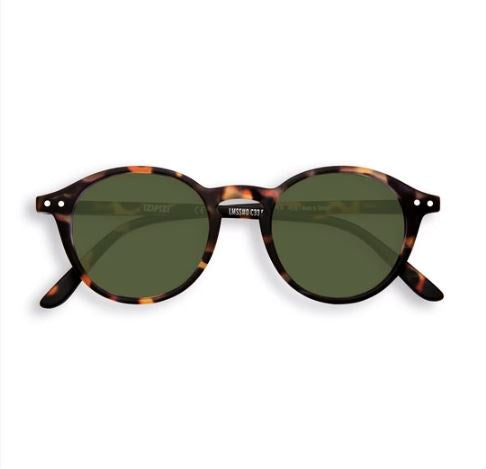 Sunglasses Iconic #D Tortoise Green Lens