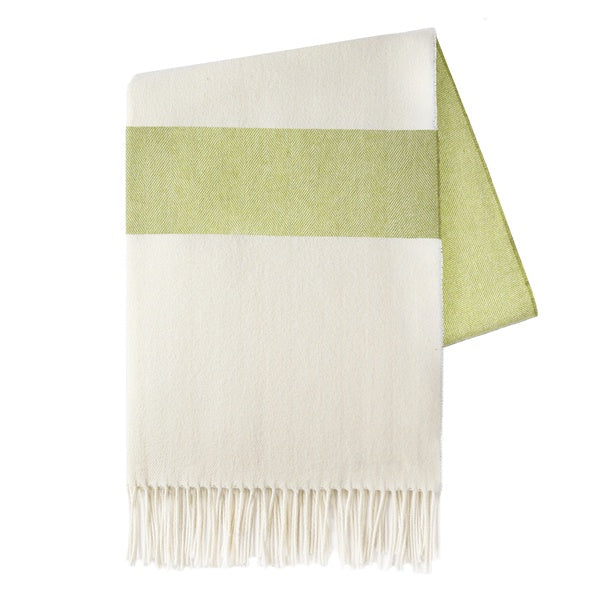 Sydney Herringbone Lemongrass Stripe Throw