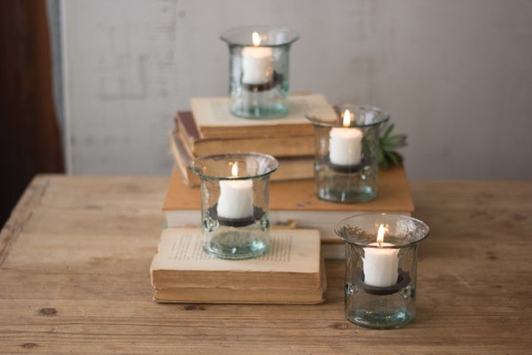Mini Glass Cylinder with Rustic Insert