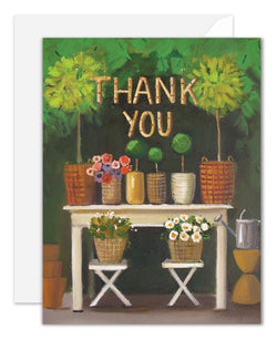 Thank You Topiary Greeting Card