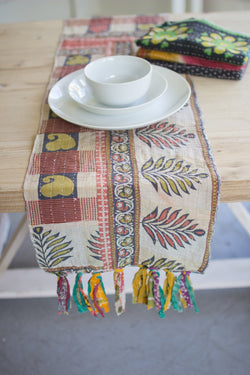 Kantha Table Runner Assorted