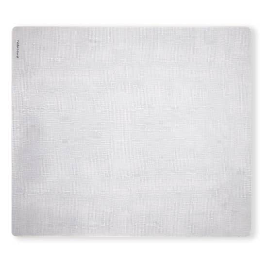Linen Silver Rectangular Placemat
