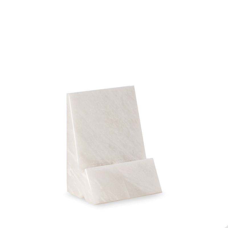 White Marble Phone Cradle
