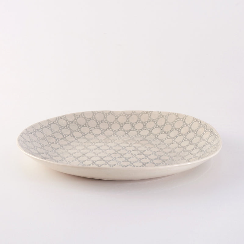 XL Oval Server Pebble Duck Egg
