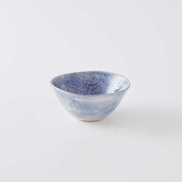 Pudding Bowl Print Blue