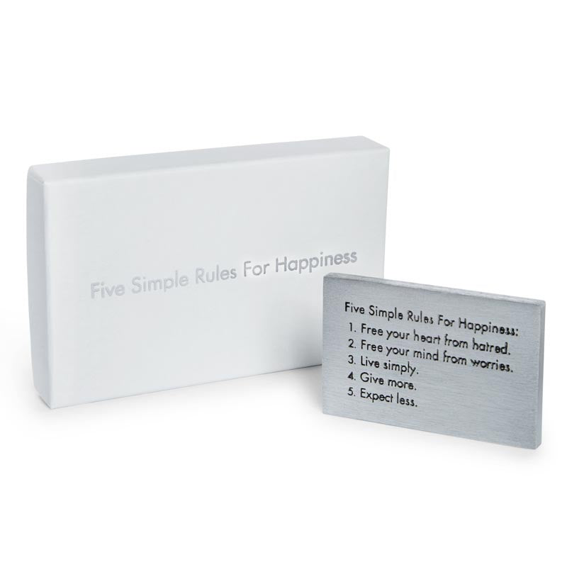 Five Simple Rules Paperweight