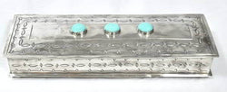Long Stamped Box with Turquoise