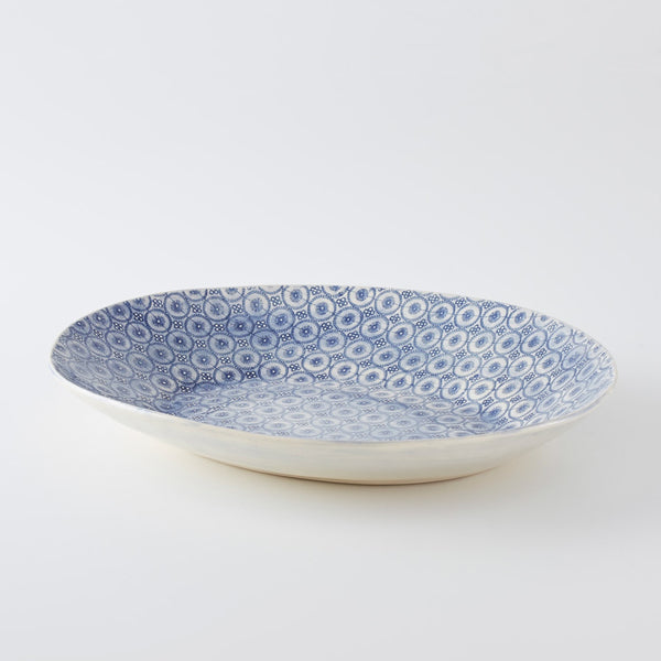XL Oval Server Pebble Blue