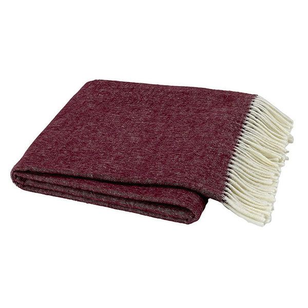 Herringbone Merlot Decorative Throw