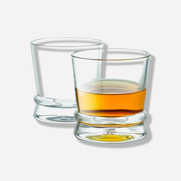 Afina Ribbon Whiskey Glasses Set of 2