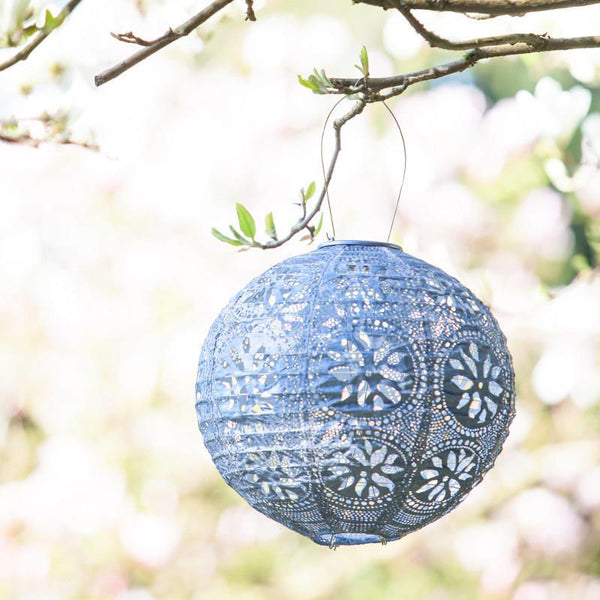 Boho Globe Metallic Blue