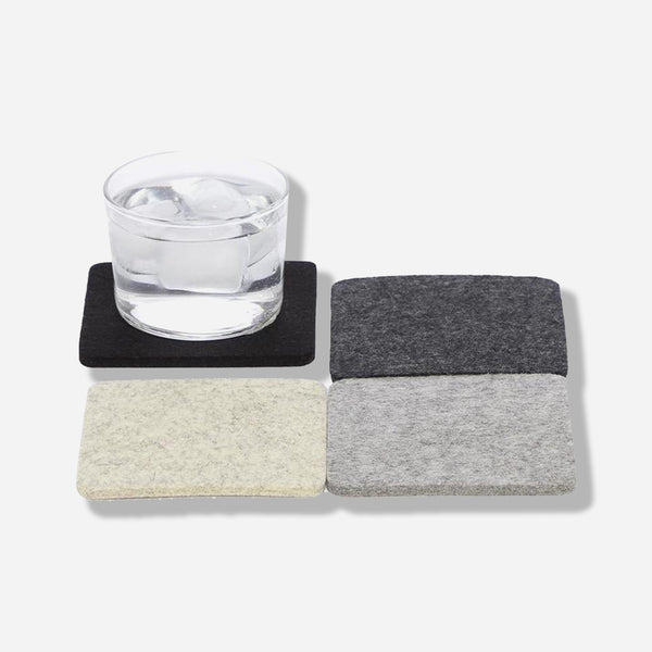 Bierfilzle Noir Coaster Set of 4