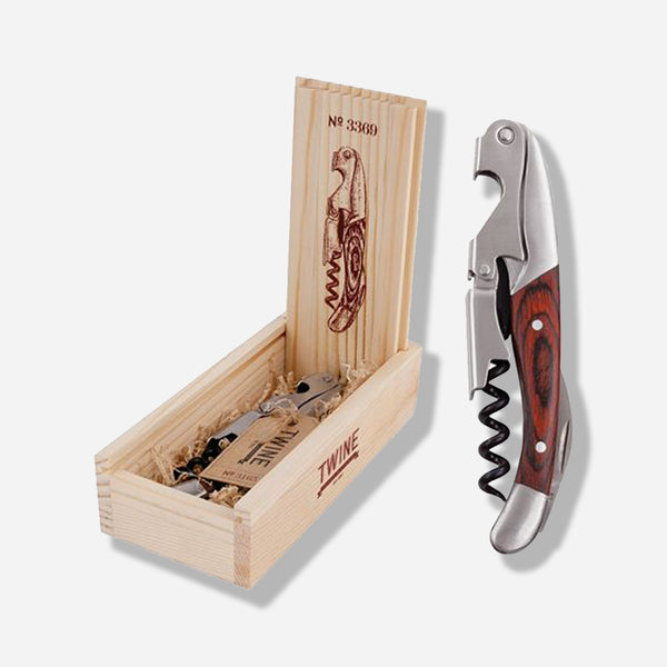 Chateau Wooden Double Hinged Corkscrew