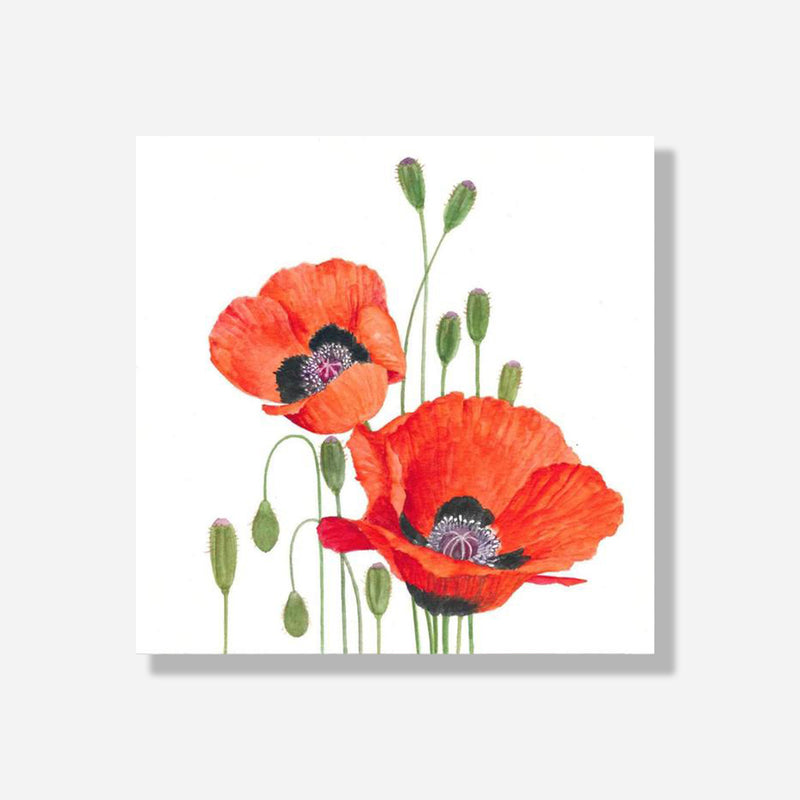 Poppies Beverage Napkin