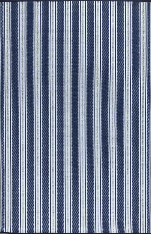 Vertical Stripe Blue White Mat