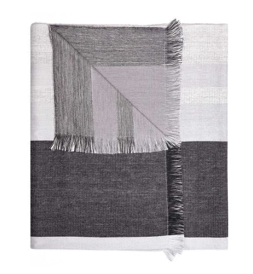 Monochrome Alpaca Reversible Throw