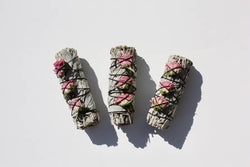 White Sage + Rose Buds Smudge