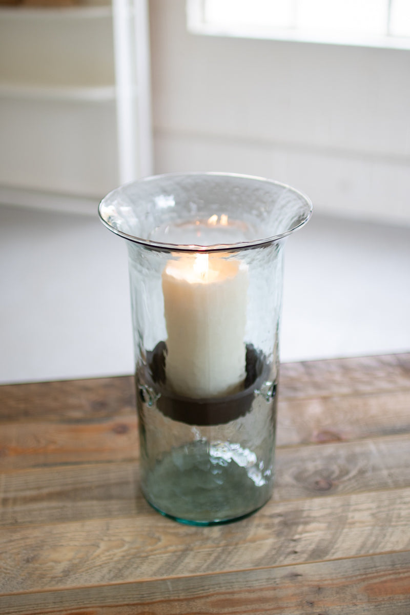 Medium Glass Cylinder with Rustic Insert